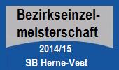 Bezirkseinzelmeisterschaft 2014/15 SB Herne-Vest