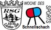 Woche des Sports 2016 in Recklinghausen Schnellschachturnier für Spieler mit einer DWZ bis max. 1700